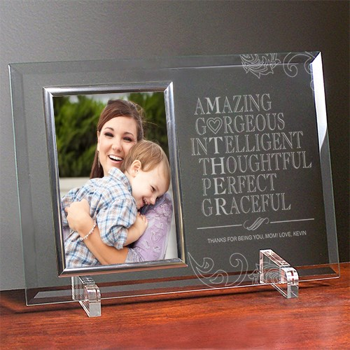 Engraved Mother Glass Picture Frame | Mother's Day Picture Frames