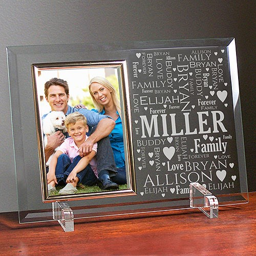 Mom Word-Art Glass Beveled Picture Frame 8594468X