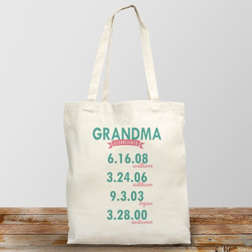 Personalized Mom Established Tote Bag 872422