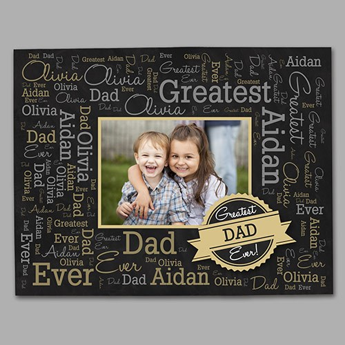 Greatest Dad Photo Word-Art Canvas 91103786