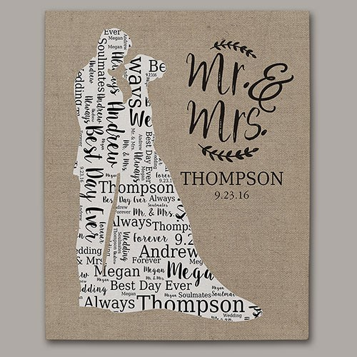 Wedding Silhouette Word-Art Canvas WSC