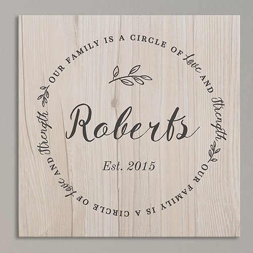 Personalized Family Circle Wall Canvas 91105584X