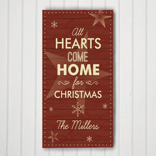 Personalized  Hearts Come Home Door Banner 91106453