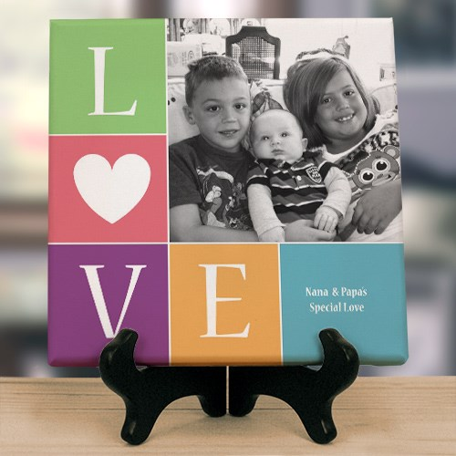 Personalized Love Photo Canvas | Mom Plaques