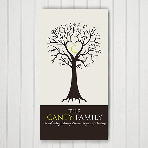 Monogram Family Tree Wall Canvas 9171733