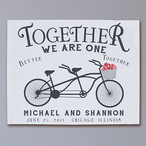 Personalized Together We Are One Wall Canvas 9194496