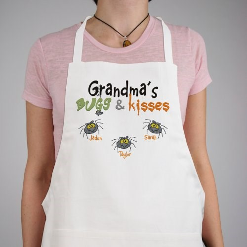 Bugs and Kisses Personalized Halloween Apron