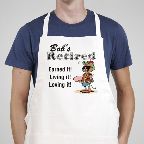 Retired and Loving It Personalized Apron
