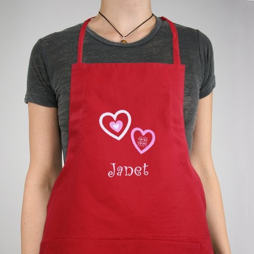Embroidered Hugs & Kisses Kitchen Apron 838807X