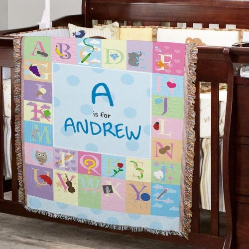 Personalized Alphabet Tapestry Throw Blanket 83039805