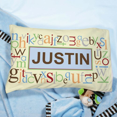 Personalized Blue Alphabet Name Pillow 83052896