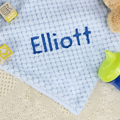 Personalized Blue Baby Blanket E7814172