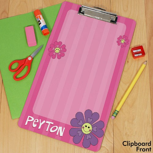 Personalized Flower Clipboard U392624