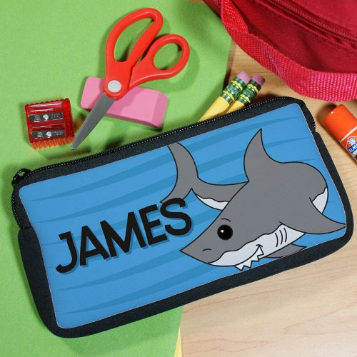 Personalized Shark Pencil Case U39497