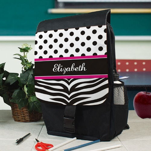 Personalized Zebra Print Backpack U594362