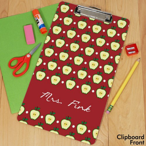 Personalized Teacher's Apple Dry Erase Clipboard U677224X