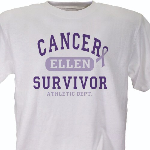 Cancer Suvivor Athletic Dept. - Cancer Awareness Personalized T-shirt 33152x