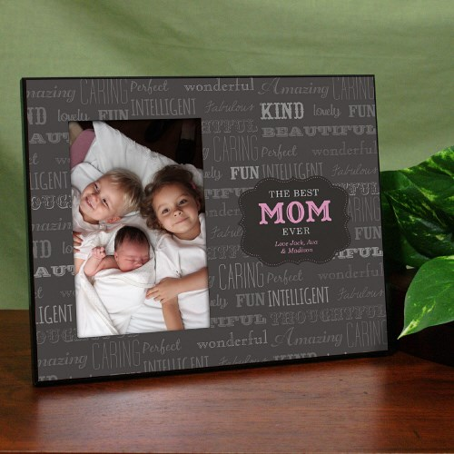 Best Mom Printed Frame Personalized Best Mom Frame