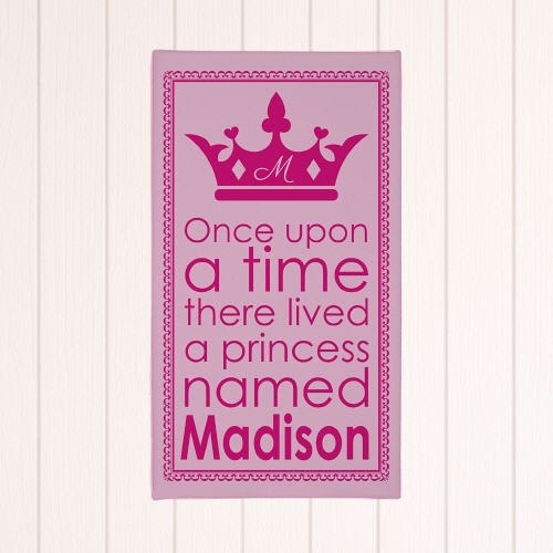 Personalized Princess Wall Canvas 9169093