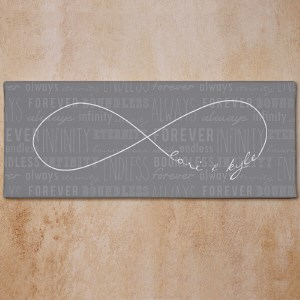 Personalized Infinity Symbol Wall Canvas 9173219