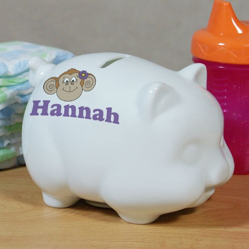 Personalized Ceramic Turtle Piggy Bank U392819
