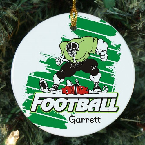 Personalized Football Player Ceramic Ornament U376510