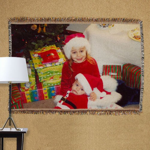 Personalized Holiday Photo Tapestry Throw Blanket 83038265