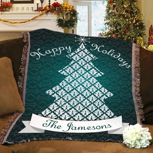 Happy Holidays Throw Blanket 83080355