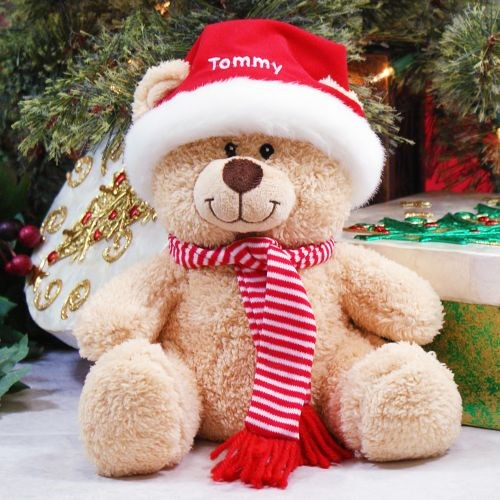 Embroidered Holiday Teddy Bear 836983B13