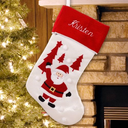 Embroidered Santa Stocking S74989
