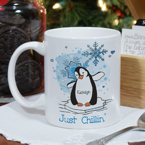Personalized Penguin Winter Coffee Mugs