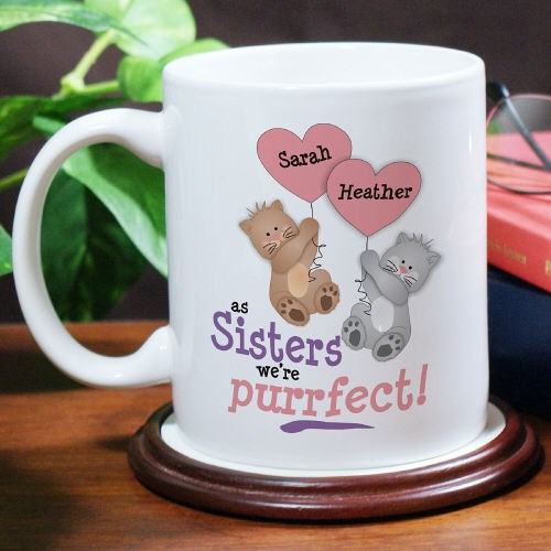 Custom Printed Sisters Coffee Mugs