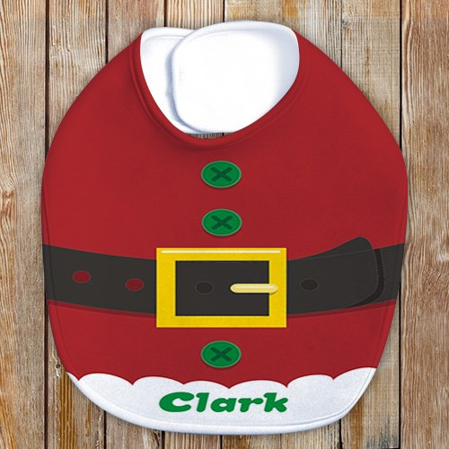 Personalized Santa Suit Baby Bib | Personalized Baby Bib