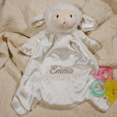 Embroidered Baby Lamb Blankets