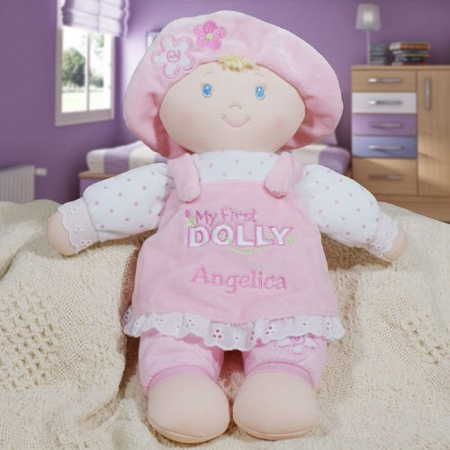 Embroidered First Baby Dolly