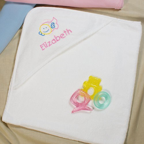 Personalized Hooded Beach Towel for Babies