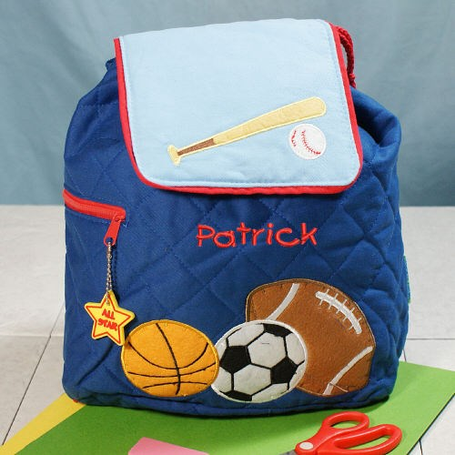 Embroidered Sports Backpack