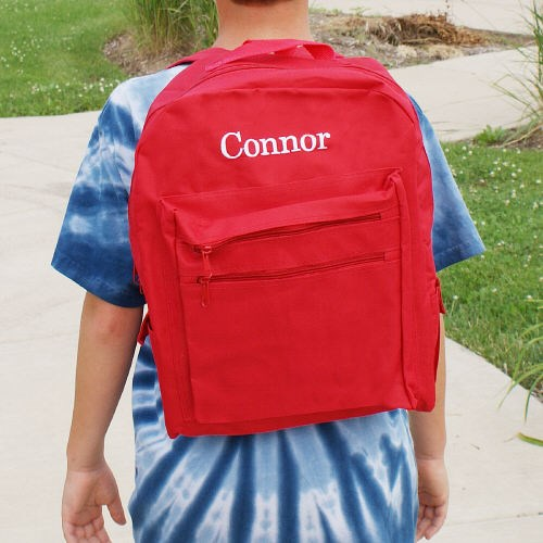 Personalized Red Backpack