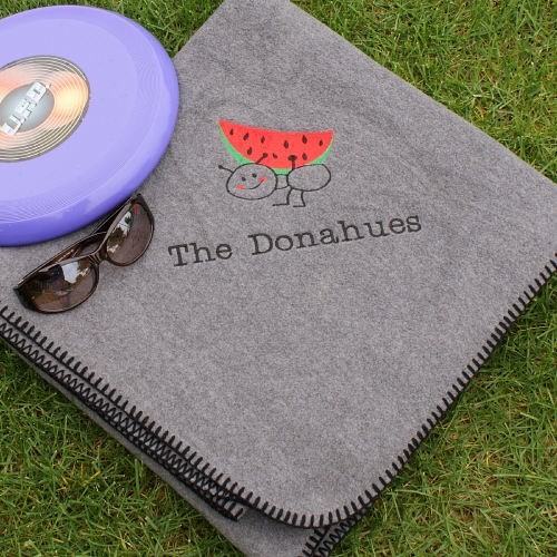 Personalized Picnic Throw Blanket