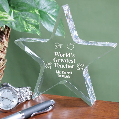 Engraved Teacher Star Keepsake 330257