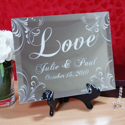 Engraved Valentines Day Love Keepsake Mirror Plaque