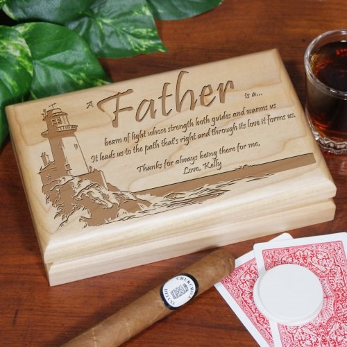 Lighting The Way Personalized Father's Day Valet Box