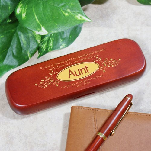 Personalized Rosewood Pen Set for your Aunt Gift