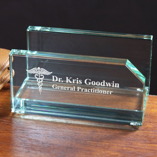 Engraved Medical Professional Business Card Holder