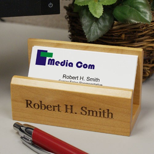 Personalized Business Card Holder L313710