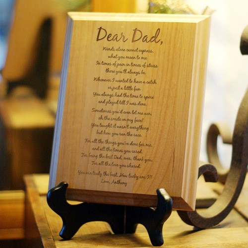 Personalized Dad Keepsake Plaque