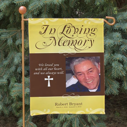 Personalized In Loving Memory Photo Memorial Flag | Memorial Ideas