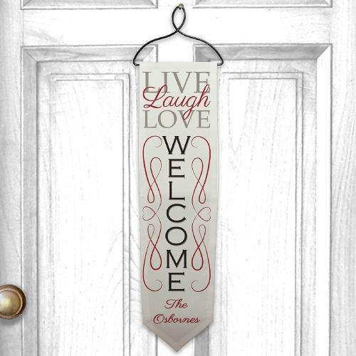 Personalized Live, Laugh, Love Welcome Banner U721228