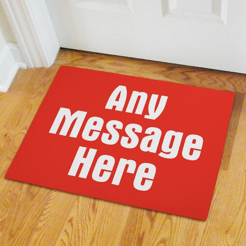 Custom Printed Message Doormat