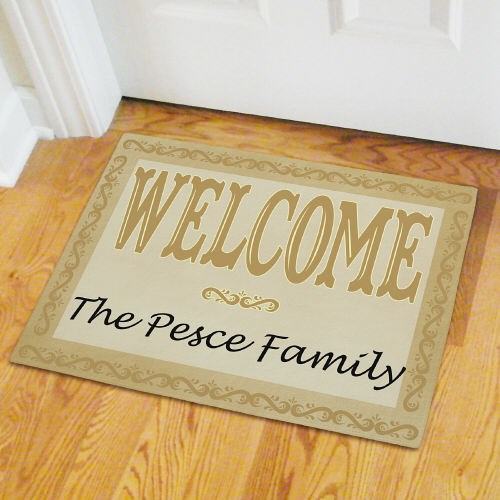Custom Printed Family Welcome Home Doormat